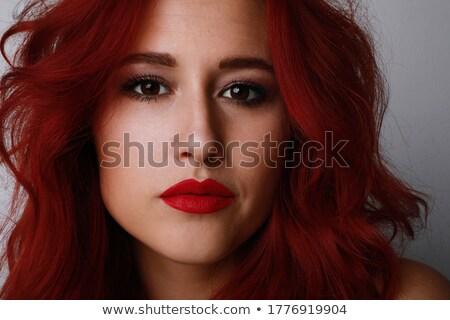 Szépség portré vonzó póló nélkül nő rövid Stock fotó © deandrobot