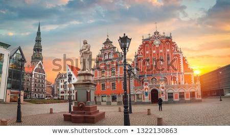 リガ ラトビア 家 オレンジ 教会 ストックフォト © benkrut