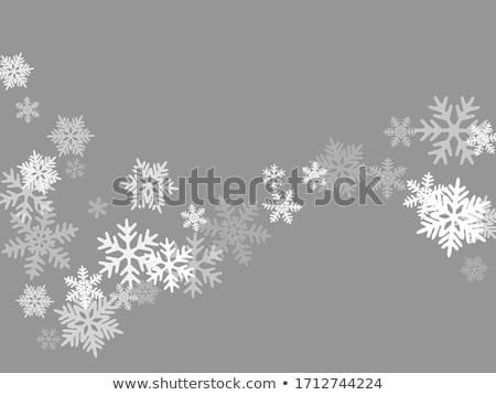 Vetor natal ilustração flocos de neve projeto eps Foto stock © articular