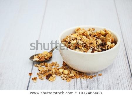 чаши гранола фрукты гайка диета зерновых Сток-фото © M-studio