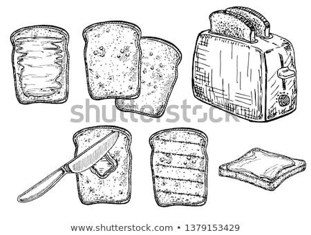 Volkoren toast brood schets icon Stockfoto © RAStudio