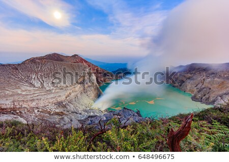 vulcão · nascer · do · sol · fumar · fogo · natureza · viajar - foto stock © taiga