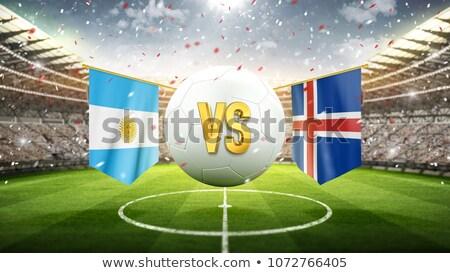 Futebol combinar Argentina vs Islândia futebol Foto stock © Zerbor