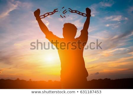 üzletember · börtön · illusztráció · mutat · mögött · rácsok - stock fotó © studiostoks
