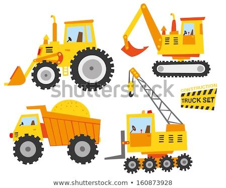 Photo stock: Construction · camion · illustration · maison · travaux