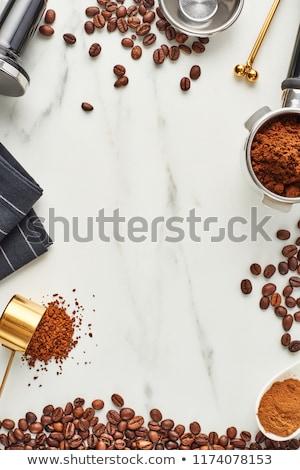 Kahve kahve çekirdekleri zemin kapsül retro tarzı Stok fotoğraf © Melnyk