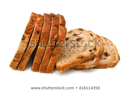 Szeletel mazsola kenyér ízletes lekvár reggeli Stock fotó © Melnyk