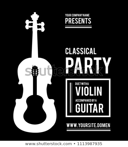 Classical music party. Duet violin and guitar Stock photo © m_pavlov