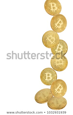 Gold coin of bitcoin in levitation on white background Stock photo © Valeriy