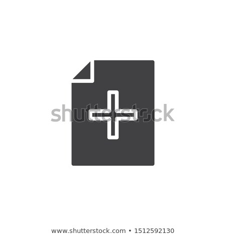 Add Document file vector icon. flat sign for mobile concept and web design. Paper doc simple solid i Stock photo © kyryloff