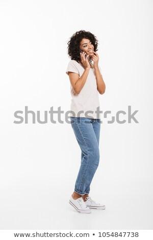 фотография содержание американский женщину афро Сток-фото © deandrobot