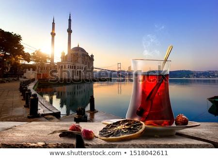 kék · mecset · napfelkelte · Isztambul · Törökország · épület - stock fotó © givaga