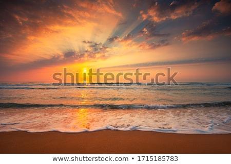 yaz · gün · batımı · güneş · yansıma · deniz - stok fotoğraf © wildman