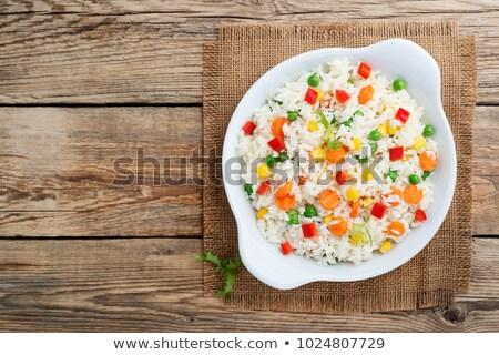 ボウル カレー 皿 コメ 野菜 自家製 ストックフォト © mpessaris