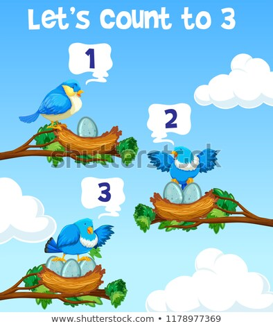 Lets count to three bird concept Stock photo © bluering