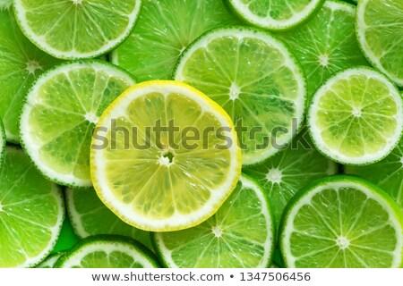 yeşil · kireç · dilimleri · beyaz · doku · gıda - stok fotoğraf © dash