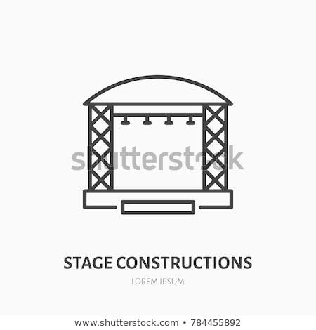 Színpad projektor ikon vékony vonal terv Stock fotó © angelp