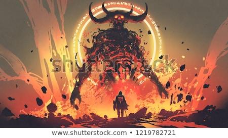 鬼 実例 グラフィック 怒っ 漫画 悪魔 ストックフォト © cthoman