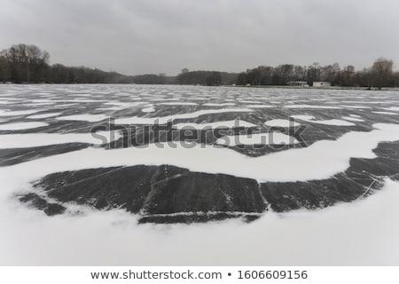 Congelada rio ver gelo inverno natureza Foto stock © boggy