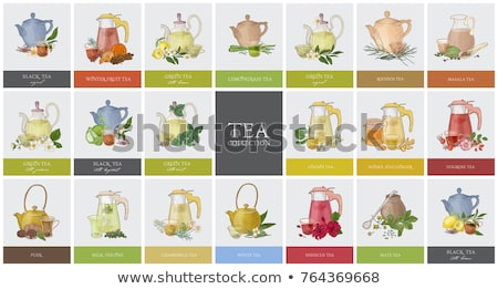 various tea and teapot stok fotoğraf © karandaev