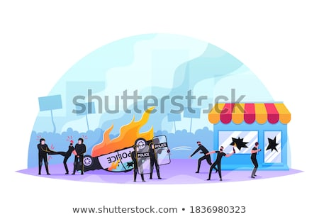 Political Violence Stock photo © Lightsource