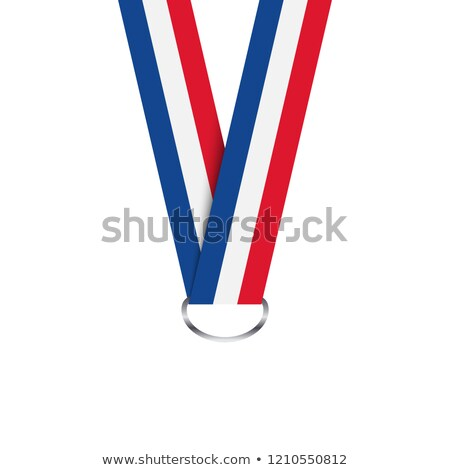французский лента медаль триколор простой изолированный Сток-фото © kurkalukas