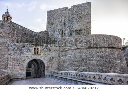 dubrovnik old town ploce gate entrance view stock photo © xbrchx