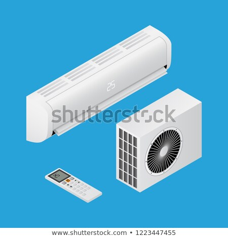 Realistic detailed isometric 3d air conditioning for home Stock photo © MarySan