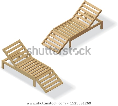 Wood Chaise lounge isolated. Vector illustration. summer rest Stock photo © MaryValery