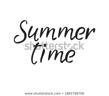 夏 時間 はがき 季節の インク 実例 ストックフォト © kollibri