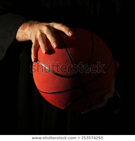 Part of basketball ball Stock photo © Cipariss