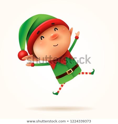 Little elf jumps. Isolated. Stock photo © ori-artiste
