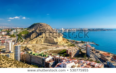 Panorama castelo comunidade Espanha edifício Foto stock © benkrut