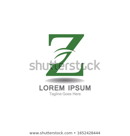 green leaf letter z eco logo bio icon stock photo © blaskorizov