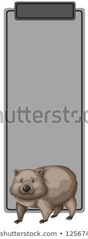 Wombat sjabloon illustratie ontwerp kunst presentatie Stockfoto © bluering