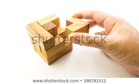 make the cube  puzzle game Stock photo © Olena