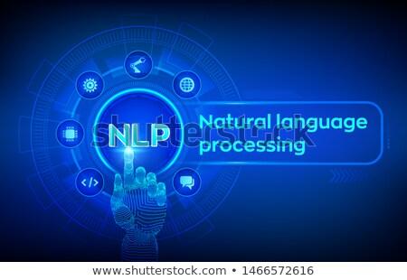 Natuurlijke taal heldere trillend violet vector Stockfoto © RAStudio