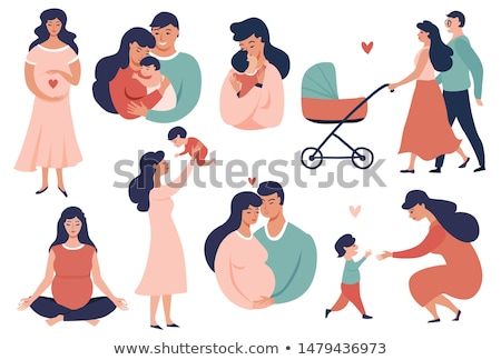 Family Parenthood Childhood Vector Illustration Stock photo © robuart