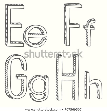 Volumetric Vintage Alphabet Font Vector Illustration. Set 4 Stock photo © tashatuvango