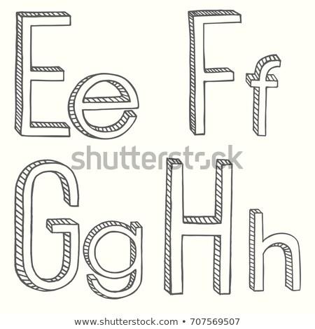 volumetric vintage alphabet font vector illustration set 4 stock photo © tashatuvango