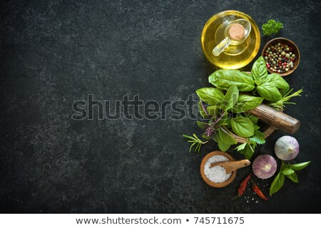 Fresche erbe pietra tavola stile Foto d'archivio © zoryanchik