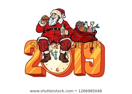 クリスマス · 金 · グリッター · サンタクロース · グリーティングカード - ストックフォト © studiostoks