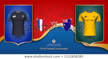 Australië vs Frankrijk scorebord illustratie klok Stockfoto © colematt