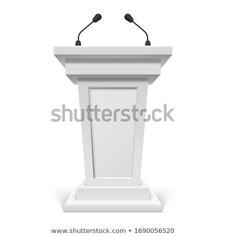 Orateur séminaire personnes gestionnaires Homme rapport Photo stock © robuart