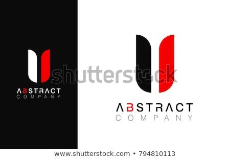 Carta preto vermelho ícone logotipo assinar Foto stock © blaskorizov