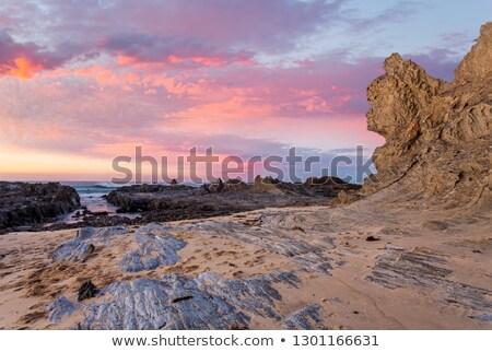 日の出 クイーン 岩 オーストラリア スポット ストックフォト © lovleah