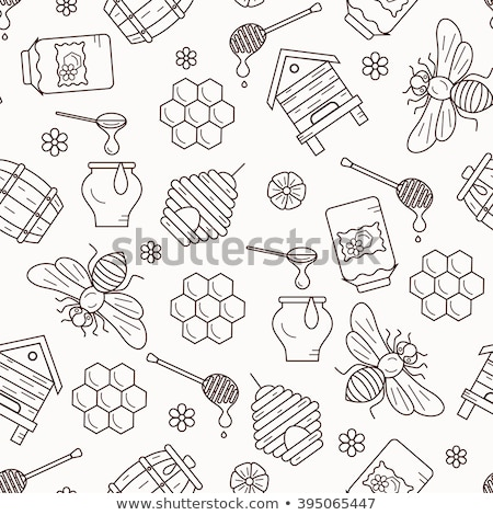 Apiary icons pattern Stock photo © netkov1