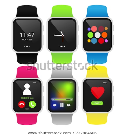 Sport Watch with Screen Icon Vector Illustration Stock photo © robuart