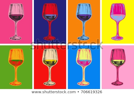 Burgundy pop art background Stock photo © studiostoks