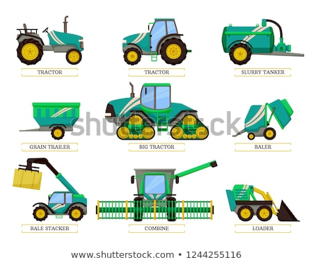 Bale Stacker and Loader Set Vector Illustration Stock photo © robuart
